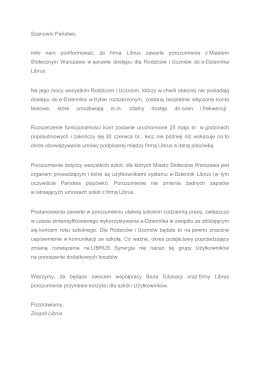 porozumienie LIBRUS