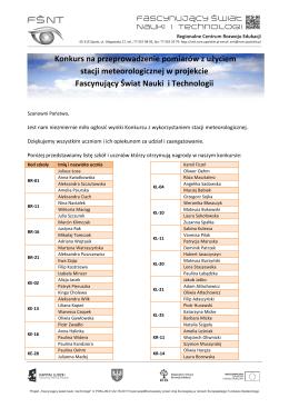 wyniki konkursu Plik - Platforma Fascynujący Świat Nauki i