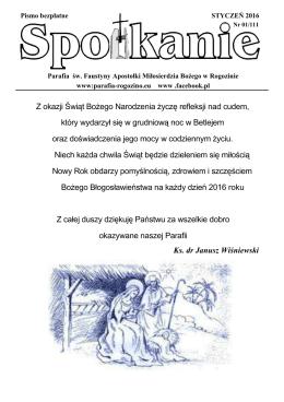 Numer 01/111 - Styczeń 2016 - Parafia pw. św Faustyny Apostołi