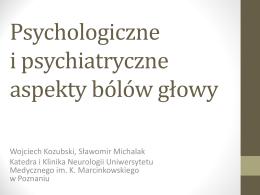 Psychologiczne i psychiatryczne aspekty bólów głowy