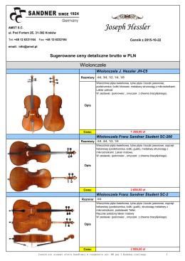 Wiolonczele - ArtAcc Music