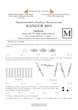 Maluch (format PDF) - Kangur Matematyczny