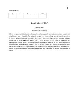 Kolokwium 2 2015 gr. 1