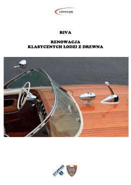 RIVA technologia napraw łodzi z mahoniu