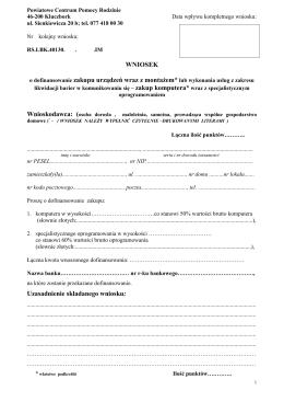 Wniosek LBK - Powiatowe Centrum Pomocy Rodzinie