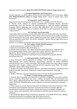 """Regulamin Akcji Promocyjnej """"Rabat 40"""