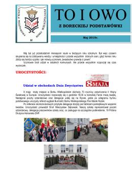 maj 2015 - Szkoła Podstawowa im. Władysława Jagiełły w Borku