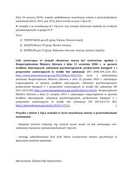 Dnia 24 czerwca 2015r. została opublikowana nowelizacja ustawy o