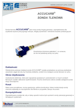 ACCUCARB SONDA TLENOWA - United Process Controls