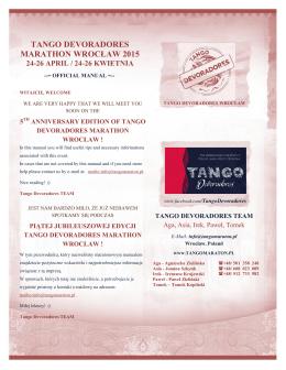 tutaj (kliknij) - Tango Devoradores Marathon Wroclaw