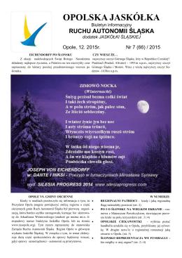 JO-7-2015 - Ruchu Autonomii Śląska