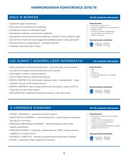 Harmonogram Konferencji 2015-2016