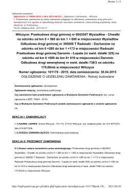 Przebudowa drogi gminnej nr 004354T Wysiadłów