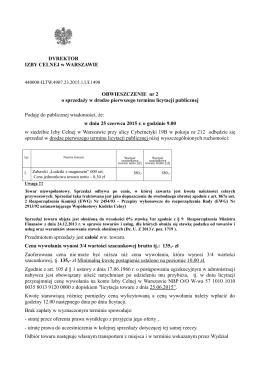 Oferta sprzedaży ( 113 KB )