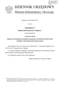 PDF - Dziennik Urzędowy Ministra Infrastruktury i Rozwoju