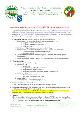XLIII OMTTK 2015 - ETAP WOJEWÓDZKI