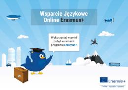 Wsparcie Językowe Online Erasmus+
