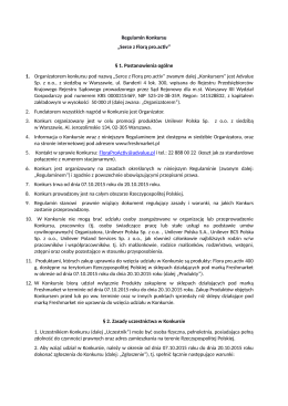 "Regulamin Konkursu ""Serce z Florą pro.activ"" § 1"