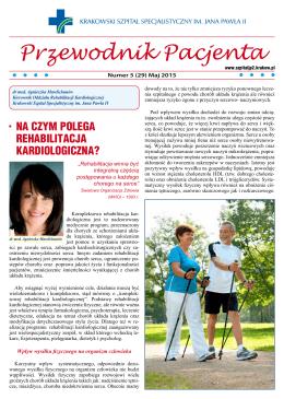Przewodnik Pacjenta - maj 2015 - Krakowski Szpital Specjalistyczny