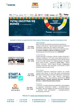 Więcej na: www.stp.inkubatorstarter.pl