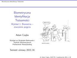 Biometryczna Identyfikacja Tozsamosci