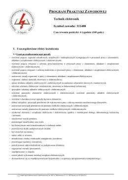 Technik elektronik - Zespół Szkół Elektronicznych i Informatycznych