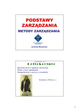 wykład 6 - dr Andrzej Marjański