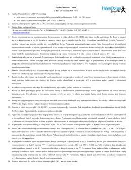 Ogólne Warunki Umów z dnia 1 września 2015 roku 1. Ogólne