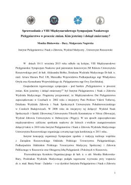 Sprawozdanie z VIII Międzynarodowego Sympozjum Naukowego