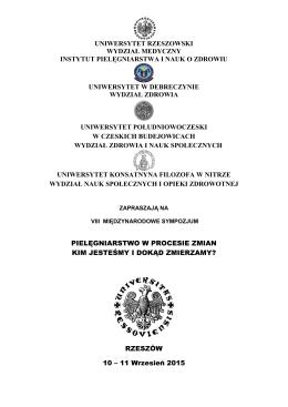 uniwersytet rzeszowski wydział medyczny instytut