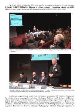 Sprawozdanie z międzynarodowej konferencji naukowej
