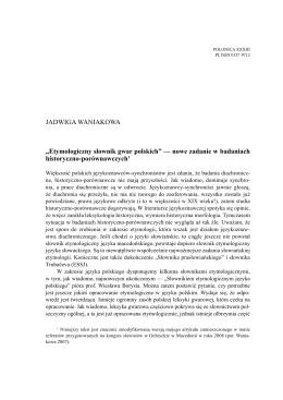 Etymologiczny słownik gwar polskich