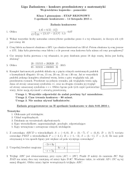 Liga Zadaniowa - konkurs przedmiotowy z matematyki
