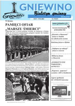 """PAMIĘCI OFIAR """"MARSZU ŚMIERCI"""" dok. ze str. 1"""