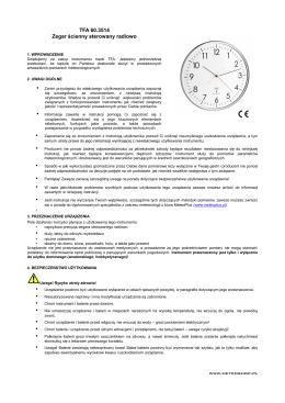 TFA 60.3514 Zegar ścienny sterowany radiowo