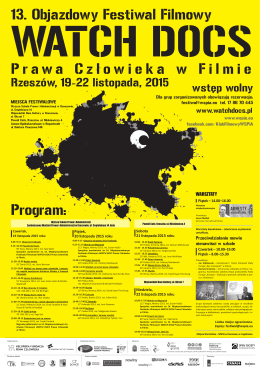 watch docs plakat b2 - Wyższa Szkoła Prawa i Administracji