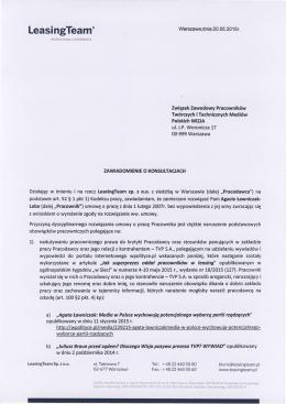 konsultacja zwolnienia dyscyplinarnego Agaty Ławniczak
