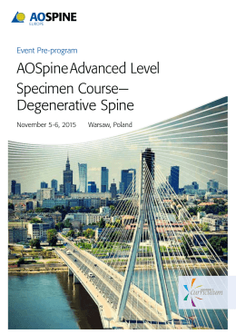 AOSpine Advanced Level Specimen Course