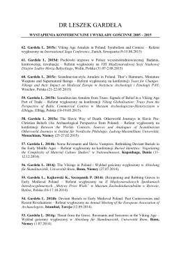 Czynny udział w konferencjach i wykłady gościnne 2005 — 2015