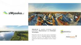 zWysoka.pl to wspólna inicjatywa dwóch podmiotów: 3Dpanorama