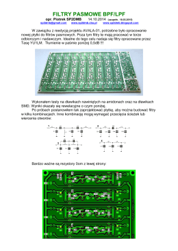 FILTRY PASMOWE BPF/LPF - SP2DMB