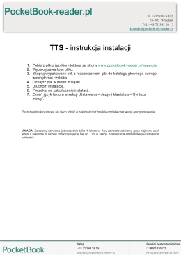 Instrukcja instalacji pakietów TTS