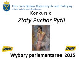 Ogłoszenie wyników Konkursu o Puchar Pytii
