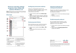 Skrócona instrukcja obsługi programu Cisco Jabber dla systemu