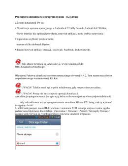 Procedura aktualizacji oprogramowania - E2 Living