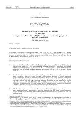 ROZPORZĄDZENIE DELEGOWANE KOMISJI (UE) 2015