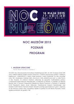 NOC MUZEÓW 2015 POZNAŃ PROGRAM