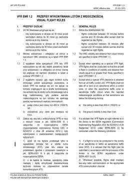 VFR ENR 1.2 - Służba Informacji Lotniczej