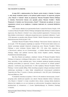 Informacja prasowa - Muzeum Początków Państwa Polskiego w
