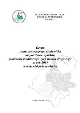 Hałas komunikacyjny w 2014 - Wojewódzki Inspektorat Ochrony